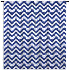 Blue Nautical Chevron Curtains, Classy or Fun.
