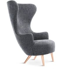 Tom Dixon Wingback chair (21.065 RON) ❤ liked on Polyvore featuring home, furniture, chairs, tom dixon wingback chair, copper furniture, english chairs, tom dixon and english furniture