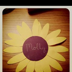 Made new name tags. (let your whole world blossom/cultivate your world/mind IDEA)