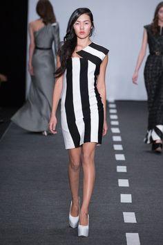 black and white stripes dress