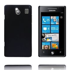 Hard Shell (Sort) Samsung Omnia 7 Deksel