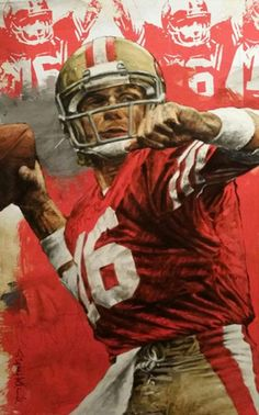 49ers Pictures, Football Pictures, Kansas City Chiefs Football, Football Art, Forty Niners, Sf Niners, 49ers Players, Nfl 49ers, Joe Montana