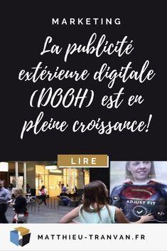 La publicité extérieure digitale (DOOH) est en pleine croissance! #publicité #marketing Digital Marketing Strategy, Movie Posters, Wednesday, Infographic, Film Poster, Billboard, Film Posters