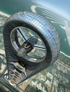 Massive Wind Turbine Building - Anara Tower, Dubai