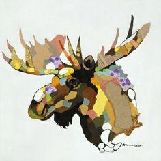 Moose Moose Canvas Wall Art