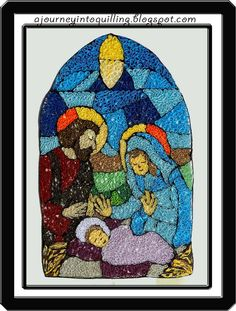 A Journey into Quilling & Paper Crafting: Christmas Quilling- Quilled Stained Glass Window