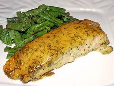 Gebackener Lachs mit Senf-Dill-Guss 1