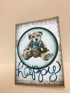 Baby bear Stampin Up Baby Cards, Kids Cards, Design Cards, Animal Cards, Stamping Up, Fathers Day, Card Ideas, Bears, Birthday Cards