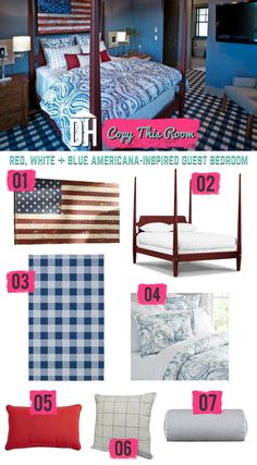 Copy This Room: Design an Americana-Inspired Bedroom >>  http://blog.hgtv.com/design/2015/06/29/american-inspired-bedroom-design/?soc=pinterest