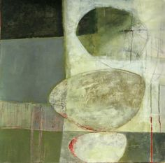 Jane Davies work in progress. Love her shapes, textures and tones.