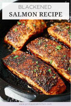 Healthy Salmon Recipes, Fish Recipes, Seafood Recipes, Cooking Recipes, Keto Recipes, Dinner Recipes, Skillet Recipes, Protein Recipes, Healthy Recipes