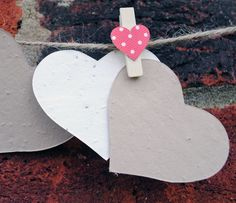 50 Coffee and Cream Plantable Seeded Hearts from plantableseedpaper.co.uk - plantable seeded paper product details Seed Paper, Coffee Cream, Seed Packets, Seeded, Wedding Favours, Dream Wedding, Joy, Christmas Ornaments, Holiday Decor