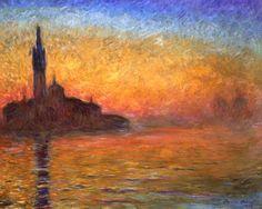 Titulo de la imágen Claude Monet - San Giorgio Maggiore en el crepúsculo