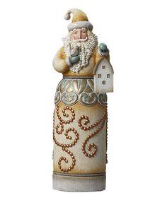 Look at this #zulilyfind! River's End Santa With Birdhouse Figurine #zulilyfinds