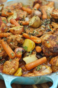 One-Pot Paprika Chicken Thighs | ReluctantEntertainer.com #LaborDay