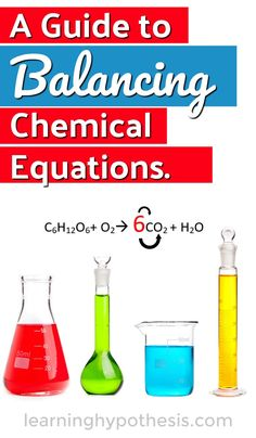 Balancing Chemical Equations Questions and guide Chemistry Classroom, High School Chemistry, Teaching Chemistry, Middle School Science, Chemistry Worksheets, Chemistry Lessons, Science Lessons, Science Activities, Montessori Science