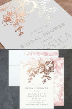 Destination letterpress wedding invitations on minted minteds elegance illustrated foil pressed bridal shower invitation created by phrosne ras exclusively for minted filmwisefo Gallery