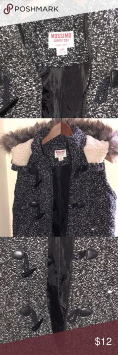Mossimo Black and Grey Vest Black and Grey hooded vest. Very warm. Almost like new. Size large. Mossimo Supply Co Jackets & Coats Vests