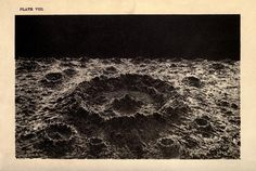 Crater on the moon, The Story of the Heavens, Sir Robert Ball, 3rd edition, 1887.