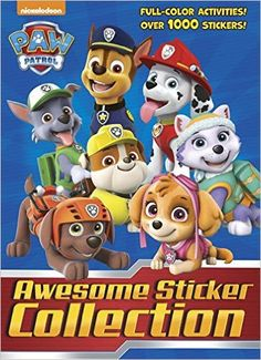 PAW Patrol Awesome Sticker Collection (PAW Patrol) (4 Color Plus 1, 000 Stickers): Golden Books: 9781524716820: Amazon.com: Books