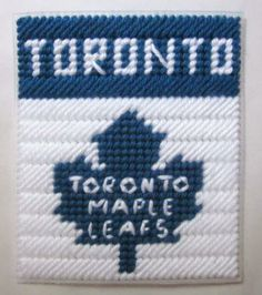 Toronto Maple Leafs tissue box cover in plastic canvas PATTERN ONLY by AuntCC for $2.50