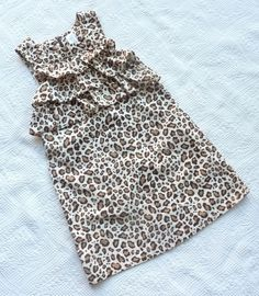 Gymboree Parisian Chic Leopard Print Animal Print Jumper Dress Girls size 10 #Gymboree #DressyEveryday