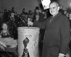 Election Night 1936 -- Alf Landon mistakes a trash can for the local ballot box, loses the election by a single vote.