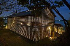 Scheunenhaus Design von  Suzuki - nachts