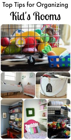 Great tips for organizing kids rooms! Easy ideas for keeping kids rooms organized!