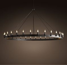 Retro Loft Rh American Vintage Chandeliers Antique Style Black Wrought Iron Round Pendant Lamps Bar Restatuant Hanging Lamps-inChandeliers from Lights & Lighting on Aliexpress.com | Alibaba Group