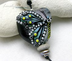 Lonelybead Handmade Lampwork 1 Focal Glass Bead Butterfly SRA Lonely Night | eBay