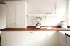 Wymeswold Kitchen | deVOL Kitchens. the dark butcherblock counter.