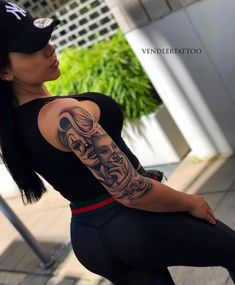 Here are some lovely and adorable hand tattoos that you would love to try out. Chicanas Tattoo, Clown Tattoo, Forarm Tattoos, Girl Arm Tattoos, Forearm Sleeve Tattoos, Girls With Sleeve Tattoos, Dope Tattoos, Badass Tattoos, Portrait Tattoo Sleeve