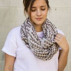 Smooth Cursor Circle Scarf/ Nectar Clothing