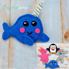 The Free Ragdoll Menagerie grows from Crochetverse! Narwhal or whale pattern
