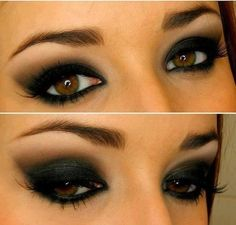 Very dark smokey eye