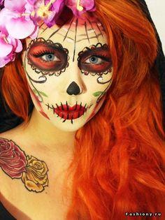 Санта Муэртэ или Сахарный череп / сахарный череп на хеллоуин на русском