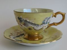 Dragon Teacup Vintage Shafford Hand Decorated by gracedmoments, $34.00