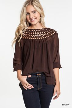 Braided Boat Neck Tunic Top