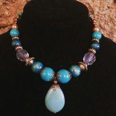 blue horizon necklace gargantilla HECHO EN URUGUAY. agus bijoux