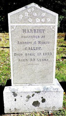 Granite in My Blood: Tombstone Tuesday: Harriet GALLUP #genealogy