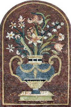Floral Mediterranean Mosaic Art #mosaic #art #etsy