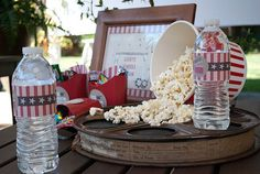 Outdoor movie party.  Cute Ideas... a must do once our backyard is in.
