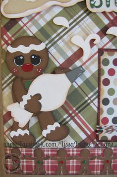 www.Facebook.com/LissaLeigheDesigns Christmas Layout Scrapbooking ScrappyDew Paper Piecing Silhouette Cameo