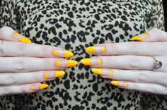 marigold yellow gives this negative space mani life