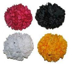 Pince à cheveux double fleurs 13 cm en tissu, 2 fleurs grosses jaune, rouge, noire, blanche, accessoire déguisement, hawaii, fêtes. http://www.baiskadreams.com/2202-pince-a-cheveux-fleur-double-couleur-en-tissu-13-cm.html