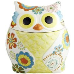 Owl Cookie Jar    ok i might just change my kitchen so i can use this owl stuff so freaking cute and fun!!