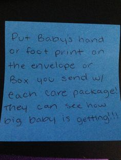 Care package idea with baby.