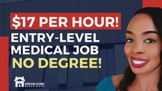 🔥 HIRING NOW! $17/hr Work-from-Home Entry-Level Medical Job| NO DEGREE Hiring Now, Entry Level, Work From Home Jobs, Health Care, Medical, Medicine, Med School, Health, Active Ingredient