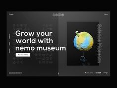 Grow your world with Nemo | Desktop Webdesign by Lucas Berghoef